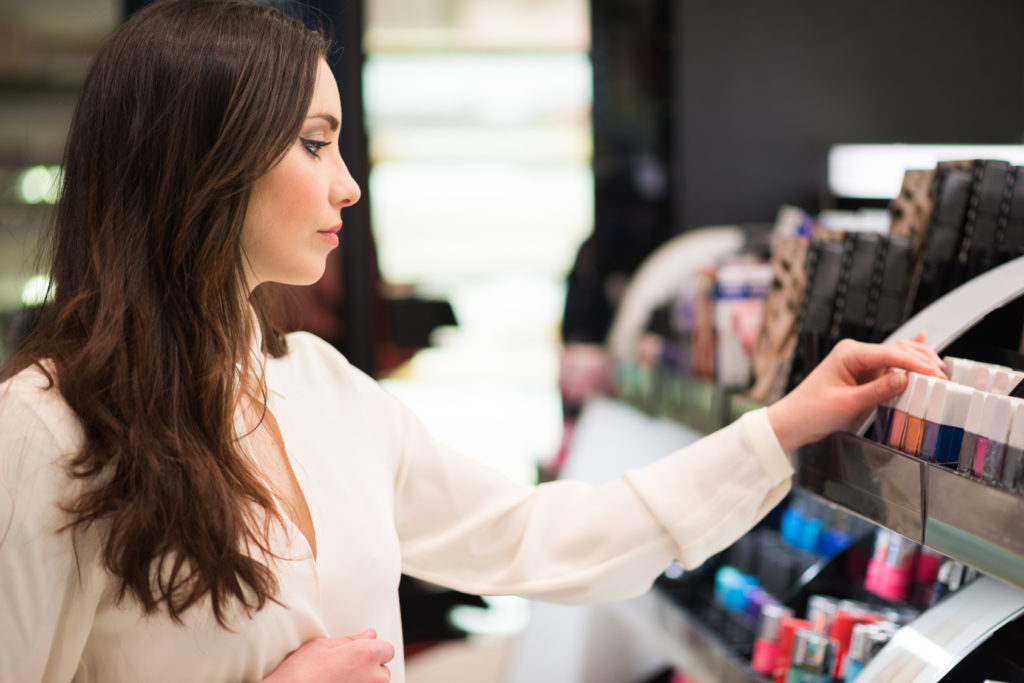 Purchasing cosmetics