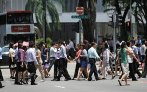 people going to office